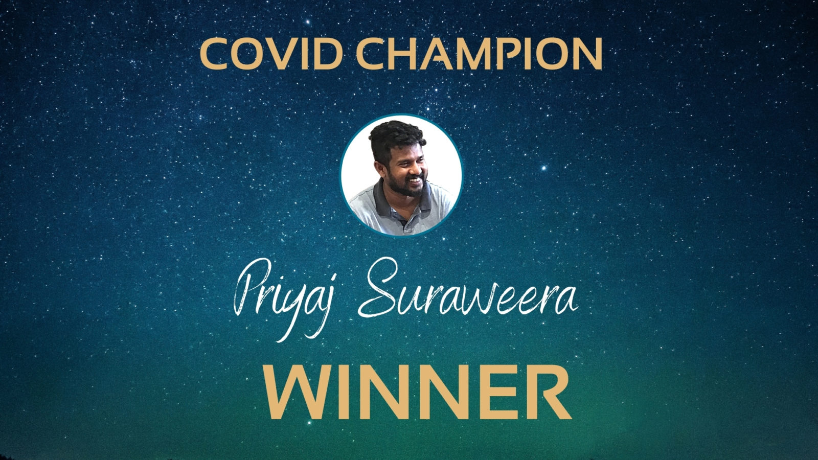 Priyaj Suraweera staff awards winner